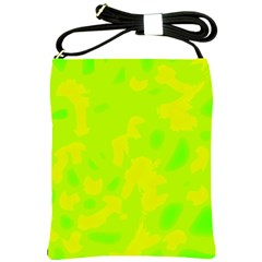 Simple Yellow And Green Shoulder Sling Bags by Valentinaart