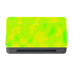 Simple Yellow And Green Memory Card Reader With Cf by Valentinaart