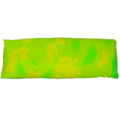 Simple Yellow And Green Body Pillow Case (dakimakura) by Valentinaart