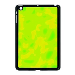 Simple Yellow And Green Apple Ipad Mini Case (black) by Valentinaart