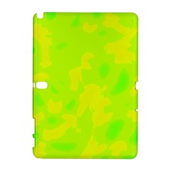 Simple Yellow And Green Samsung Galaxy Note 10 1 (p600) Hardshell Case by Valentinaart