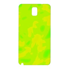 Simple Yellow And Green Samsung Galaxy Note 3 N9005 Hardshell Back Case by Valentinaart