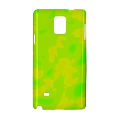 Simple Yellow And Green Samsung Galaxy Note 4 Hardshell Case by Valentinaart
