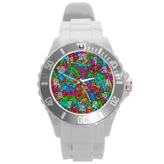 Lizards Round Plastic Sport Watch (l) by Valentinaart