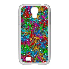 Lizards Samsung Galaxy S4 I9500/ I9505 Case (white) by Valentinaart