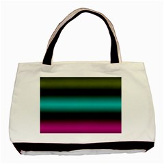 Dark Green Mint Blue Lilac Soft Gradient Basic Tote Bag (two Sides) by designworld65
