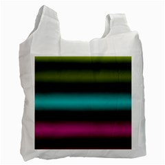 Dark Green Mint Blue Lilac Soft Gradient Recycle Bag (one Side) by designworld65