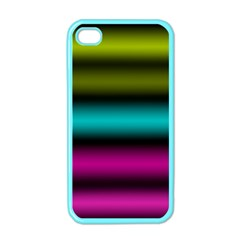 Dark Green Mint Blue Lilac Soft Gradient Apple Iphone 4 Case (color) by designworld65