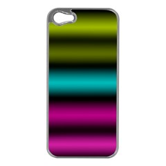 Dark Green Mint Blue Lilac Soft Gradient Apple Iphone 5 Case (silver) by designworld65