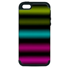 Dark Green Mint Blue Lilac Soft Gradient Apple Iphone 5 Hardshell Case (pc+silicone) by designworld65