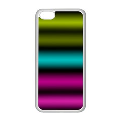 Dark Green Mint Blue Lilac Soft Gradient Apple Iphone 5c Seamless Case (white) by designworld65