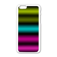 Dark Green Mint Blue Lilac Soft Gradient Apple Iphone 6/6s White Enamel Case by designworld65