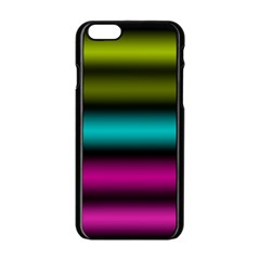 Dark Green Mint Blue Lilac Soft Gradient Apple Iphone 6/6s Black Enamel Case