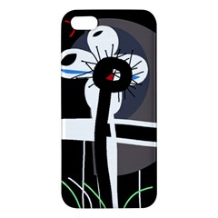 Dark Apple Iphone 5 Premium Hardshell Case by Valentinaart