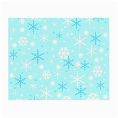 Blue Xmas Pattern Small Glasses Cloth (2 Side) by Valentinaart