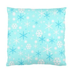 Blue Xmas Pattern Standard Cushion Case (one Side) by Valentinaart