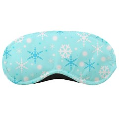 Blue Xmas Pattern Sleeping Masks by Valentinaart
