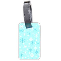 Blue Xmas Pattern Luggage Tags (one Side)