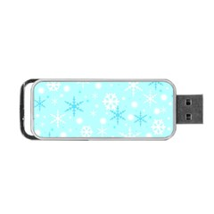 Blue Xmas Pattern Portable Usb Flash (two Sides) by Valentinaart