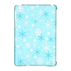 Blue Xmas Pattern Apple Ipad Mini Hardshell Case (compatible With Smart Cover) by Valentinaart
