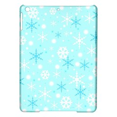 Blue Xmas Pattern Ipad Air Hardshell Cases by Valentinaart