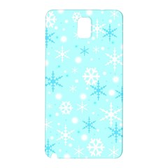Blue Xmas Pattern Samsung Galaxy Note 3 N9005 Hardshell Back Case