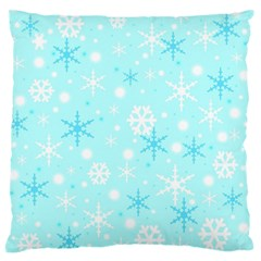 Blue Xmas Pattern Standard Flano Cushion Case (one Side) by Valentinaart