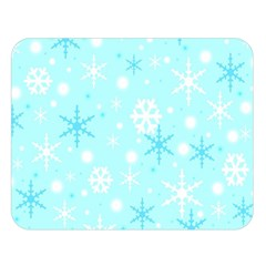 Blue Xmas Pattern Double Sided Flano Blanket (large)  by Valentinaart