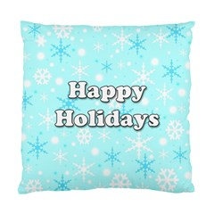 Happy Holidays Blue Pattern Standard Cushion Case (one Side) by Valentinaart