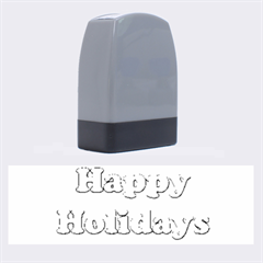 Happy Holidays Blue Pattern Name Stamps