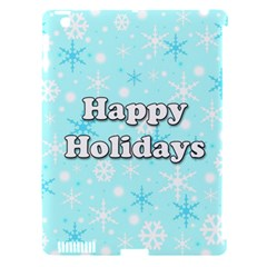 Happy Holidays Blue Pattern Apple Ipad 3/4 Hardshell Case (compatible With Smart Cover)