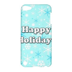 Happy Holidays Blue Pattern Apple Ipod Touch 5 Hardshell Case by Valentinaart