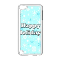 Happy Holidays Blue Pattern Apple Ipod Touch 5 Case (white) by Valentinaart