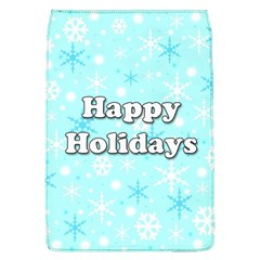 Happy Holidays Blue Pattern Flap Covers (l)  by Valentinaart