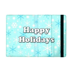 Happy Holidays Blue Pattern Ipad Mini 2 Flip Cases by Valentinaart