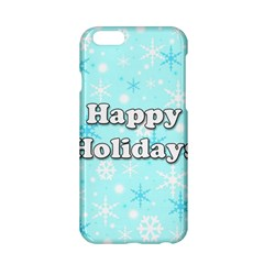 Happy Holidays Blue Pattern Apple Iphone 6/6s Hardshell Case by Valentinaart
