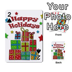 Happy Holidays   Gifts And Stars Playing Cards 54 Designs