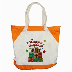 Happy Holidays   Gifts And Stars Accent Tote Bag by Valentinaart