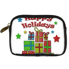 Happy Holidays   Gifts And Stars Digital Camera Cases by Valentinaart