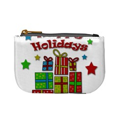 Happy Holidays   Gifts And Stars Mini Coin Purses by Valentinaart