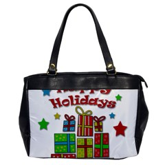 Happy Holidays   Gifts And Stars Office Handbags by Valentinaart