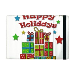 Happy Holidays   Gifts And Stars Apple Ipad Mini Flip Case