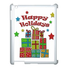 Happy Holidays   Gifts And Stars Apple Ipad 3/4 Case (white) by Valentinaart
