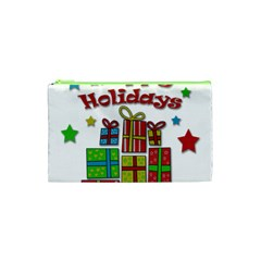 Happy Holidays   Gifts And Stars Cosmetic Bag (xs) by Valentinaart