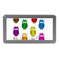 Cute Owls   Who? Memory Card Reader (mini) by Valentinaart
