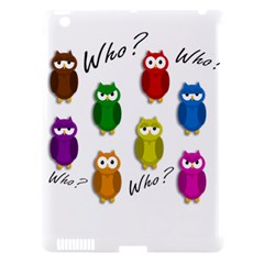 Cute Owls   Who? Apple Ipad 3/4 Hardshell Case (compatible With Smart Cover) by Valentinaart