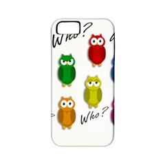 Cute Owls   Who? Apple Iphone 5 Classic Hardshell Case (pc+silicone) by Valentinaart