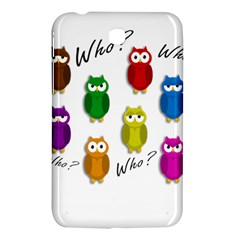 Cute Owls   Who? Samsung Galaxy Tab 3 (7 ) P3200 Hardshell Case  by Valentinaart