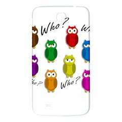 Cute Owls   Who? Samsung Galaxy Mega I9200 Hardshell Back Case by Valentinaart