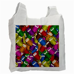 Cute Owls Mess Recycle Bag (one Side)